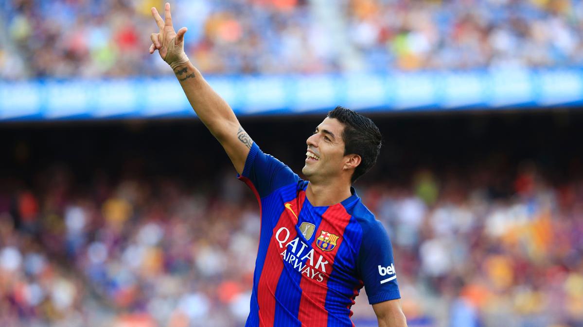 """Luis Su�rez, """"hat-trick"""" para defender el """"Pichichi"""" de Liga"""