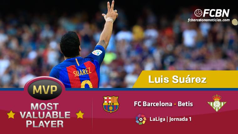 """Luis Su�rez, el """"MVP"""" del FC Barcelona-Real Betis"""