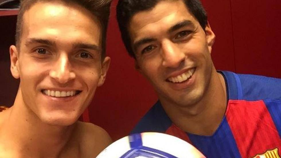 Los Suárez azulgranas celebraron juntos la victoria