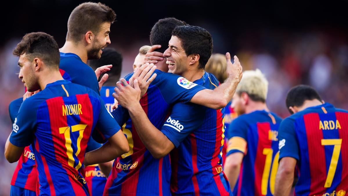 El Bar�a, ocho a�os seguidos ganando en el debut de Liga