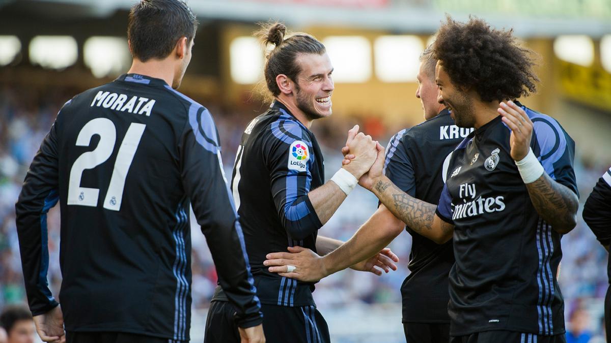 El Madrid empieza la Liga siguiendo la estela del Bar�a (0-3)