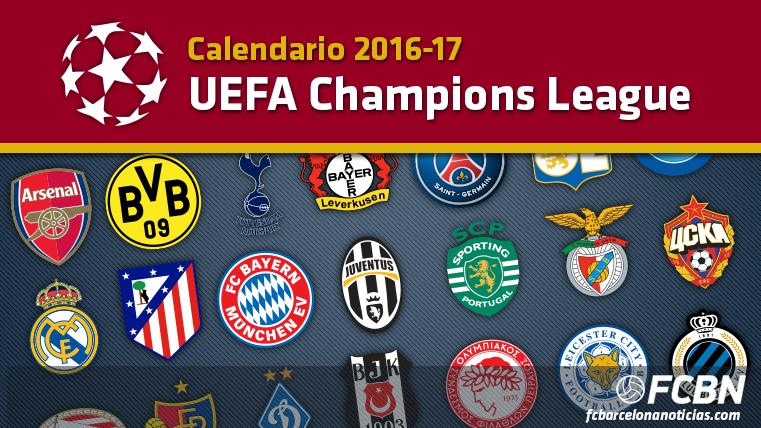 Calendario Champions League 2016-2017