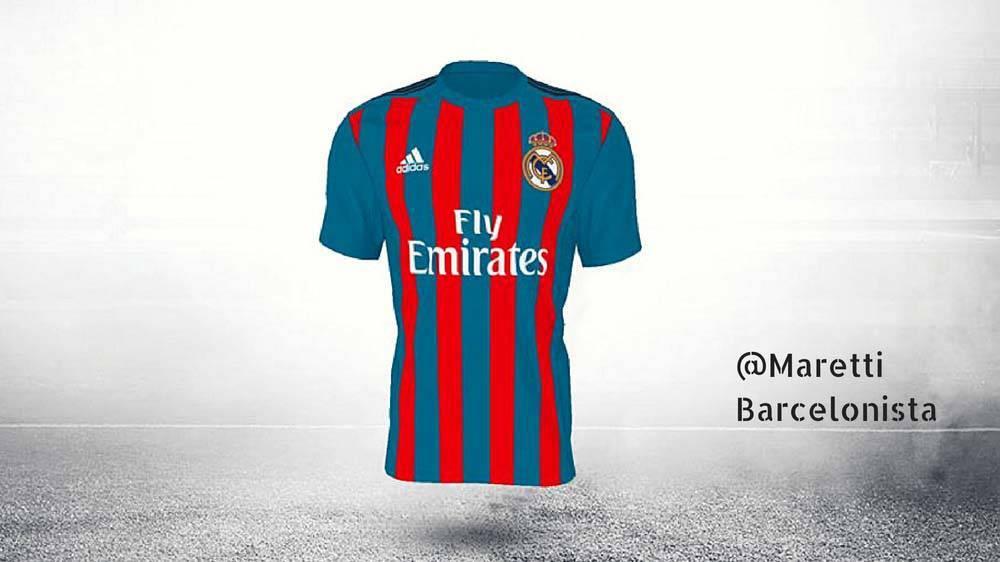 Adidas piensa en una camiseta del Madrid... �Blaugrana!