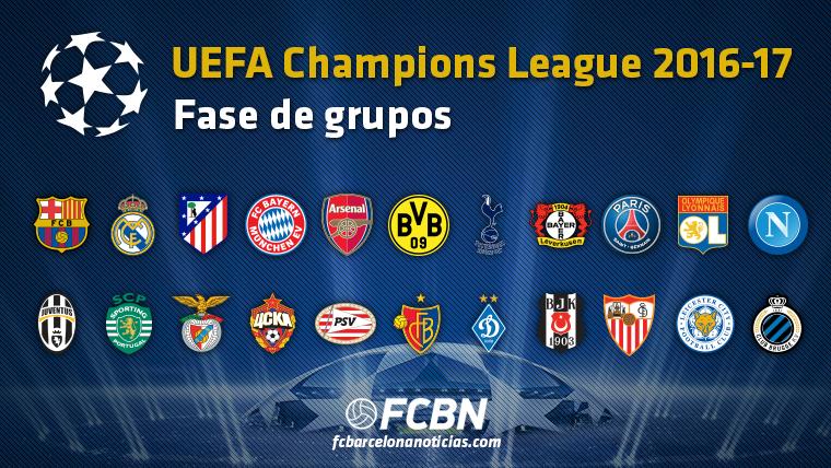 As� queda la fase de grupos de la Champions League 2016-17