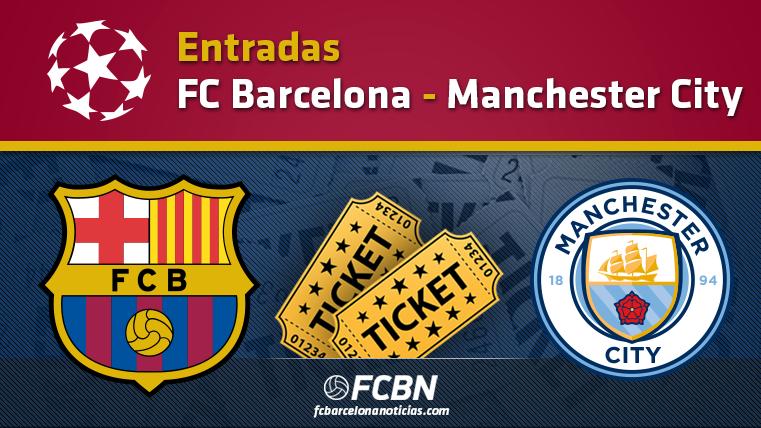 Entradas FC Barcelona vs Manchester City - Champions League
