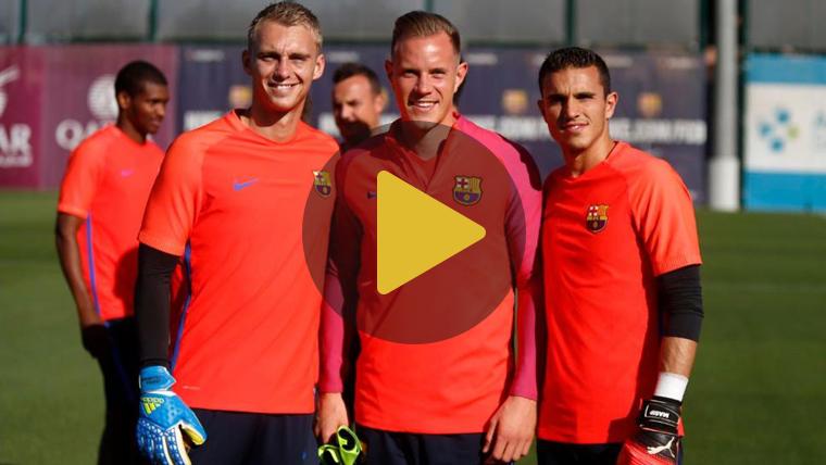 Primer entrenamiento de Cillessen con el FC Barcelona
