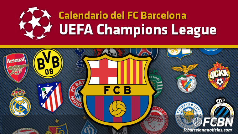 Calendario Uefa Champions League.Calendar Of The Fc Barcelona In The Champions League 2016 2017