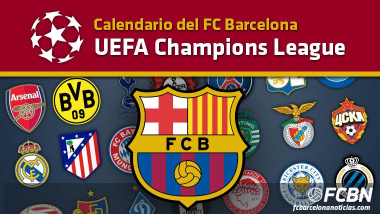 Calendario del FC Barcelona en la Champions League 2016-2017