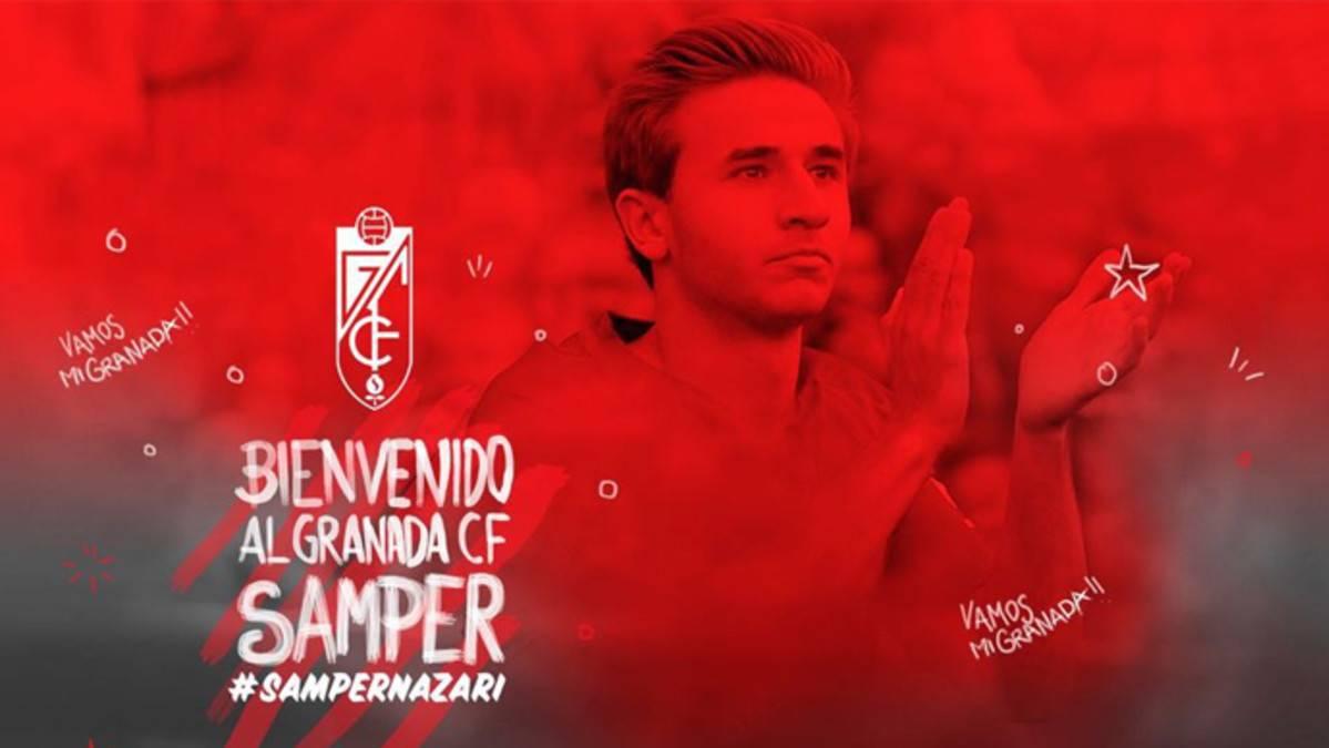 OFICIAL: Samper, cedido una campaña al Granada
