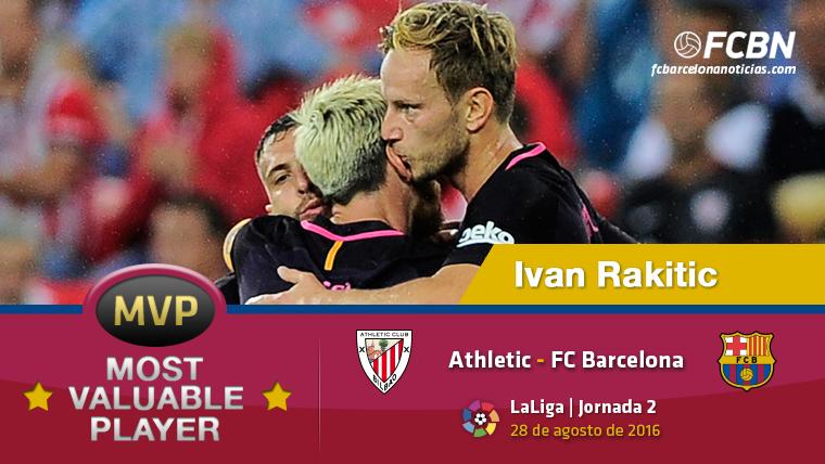 """Ivan Rakitic, el """"MVP"""" del Athletic Club-FC Barcelona"""