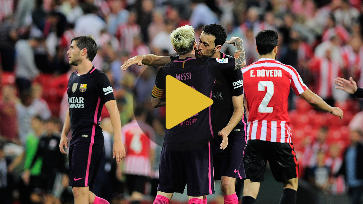 V�deo resumen: Athletic Club 0 FC Barcelona 1 (Liga J2)