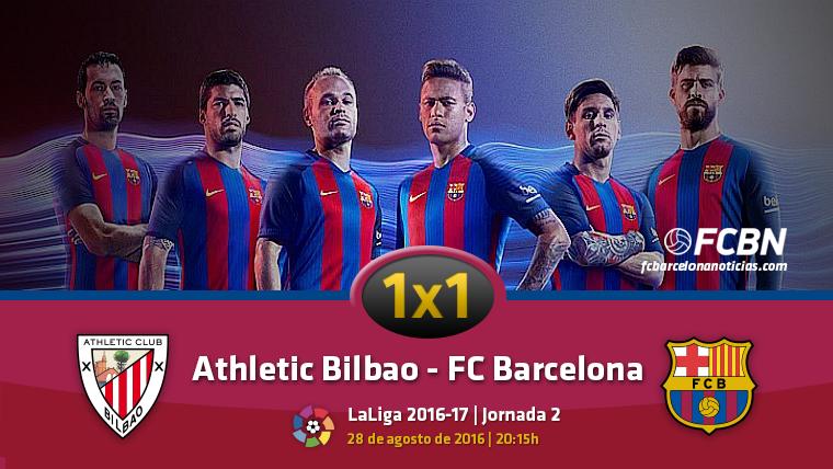 El 1x1 del FC Barcelona contra el Athletic de Bilbao