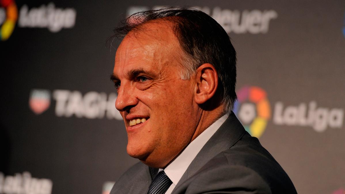 """Javier Tebas habla ahora de """"malentendidos"""" con el Barça"""