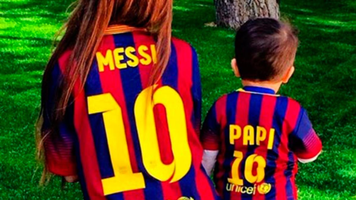 """Los hijos de Messi, Piqu� y Luis Su�rez, """"fichados"""" por el Bar�a"""