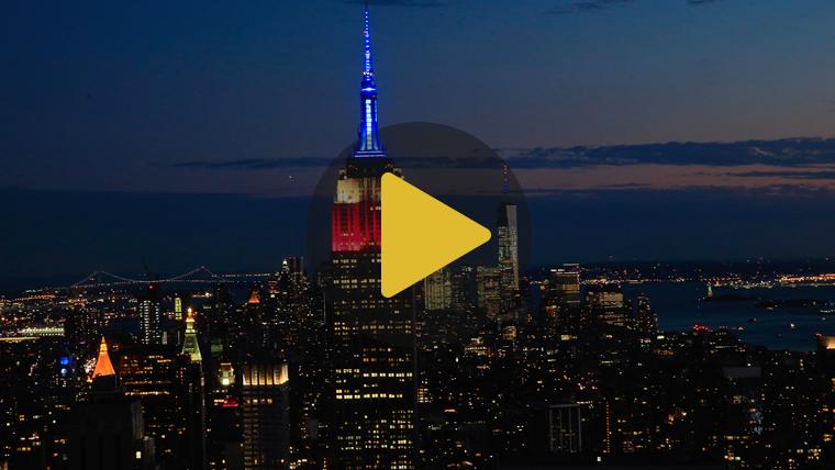 El Empire State de Nueva York ya es de color azulgrana