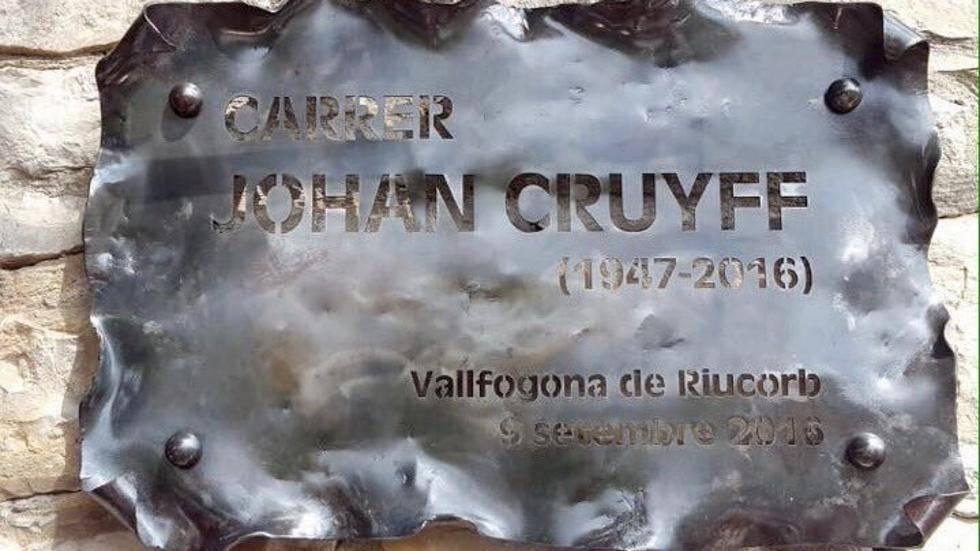 Johan Cruyff ya tiene su nombre en una calle de Catalunya