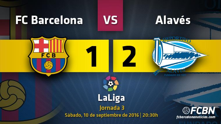 El Barça da un paso atrás en Liga contra el Alavés (1-2)