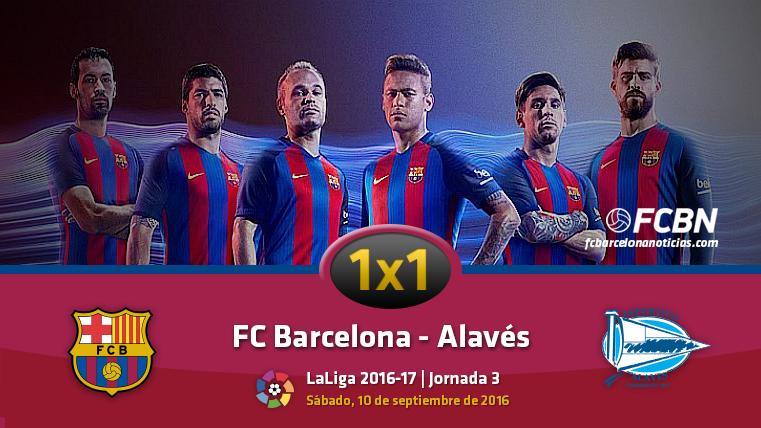 El 1x1 del FC Barcelona frente al Deportivo Alav�s