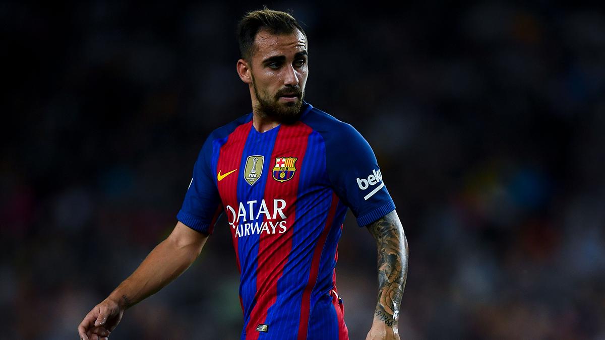 Paco Alcácer naufragó en su debut con el FC Barcelona
