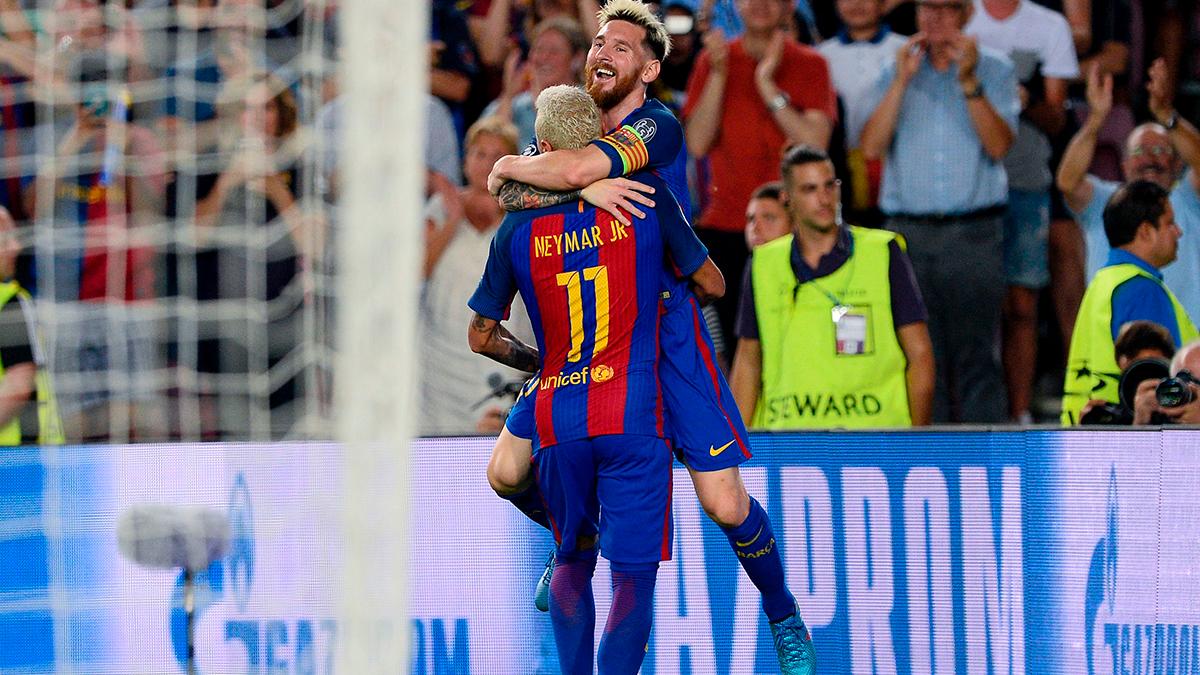 Neymar y Messi lideran el primer once ideal de la UEFA