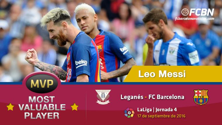 """Leo Messi, el """"MVP"""" del FC Barcelona contra el Legan�s"""