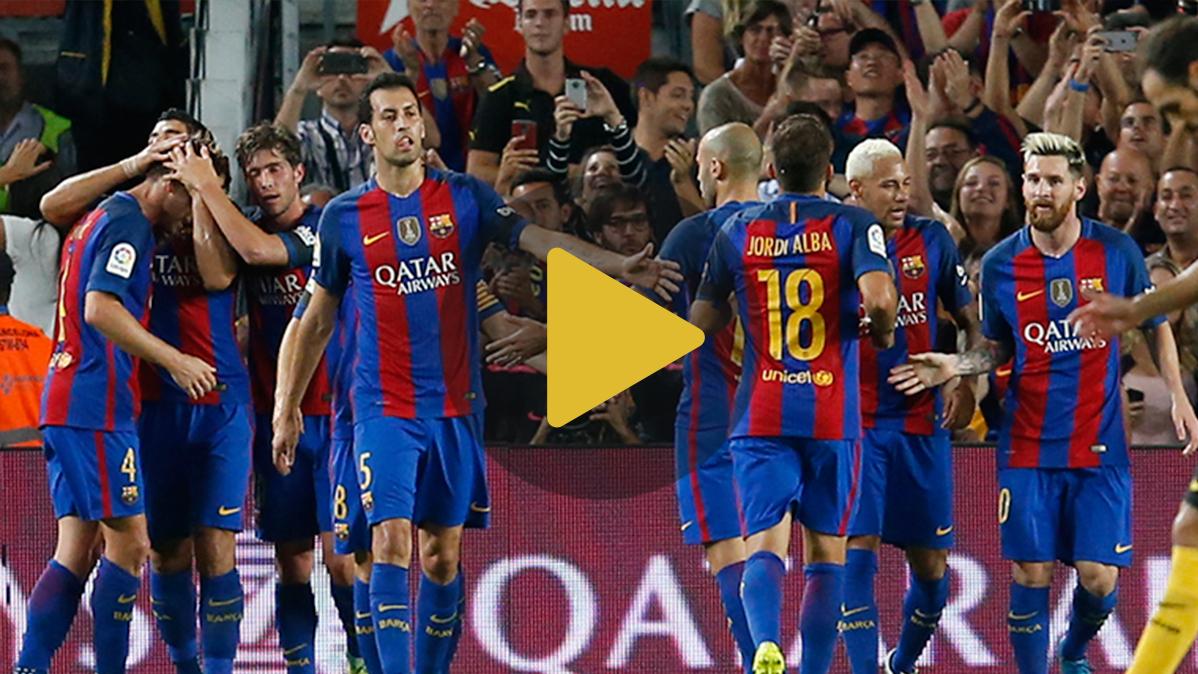 V�deo resumen: FC Barcelona 1 Atl�tico de Madrid 1 (Liga J5)
