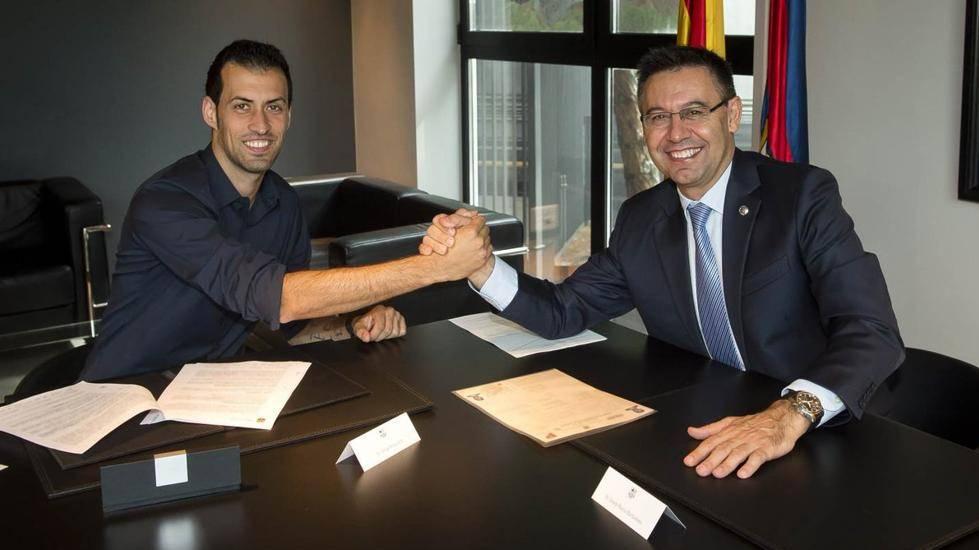 """<span class=""""green"""">OFICIAL:</span> Busquets firma la renovaci�n con el Barcelona"""