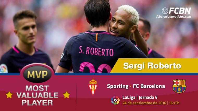 """Sergi Roberto, el """"MVP"""" del Barcelona contra el Sporting"""