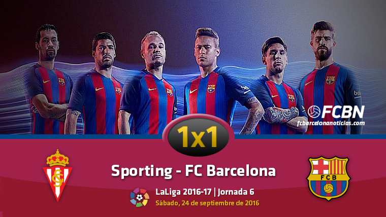 El 1x1 del FC Barcelona contra el Sporting de Gij�n