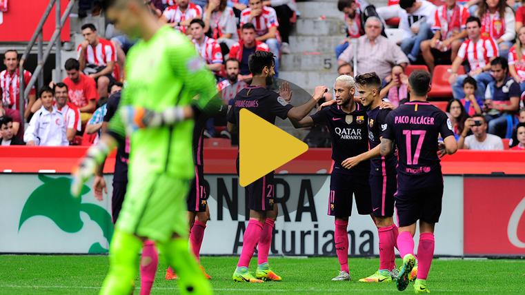 V�deo resumen: Sporting de Gij�n 0 FC Barcelona 5 (Liga J6)