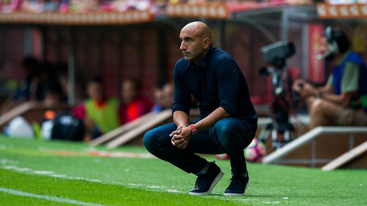 El derrumbe del Sporting ante el Barça, según Abelardo