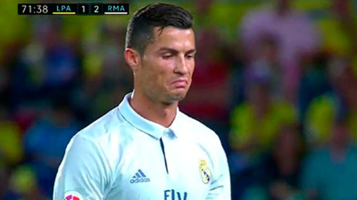 """""""Rabieta"""" de Cristiano Ronaldo cuando lo cambi� Zidane"""