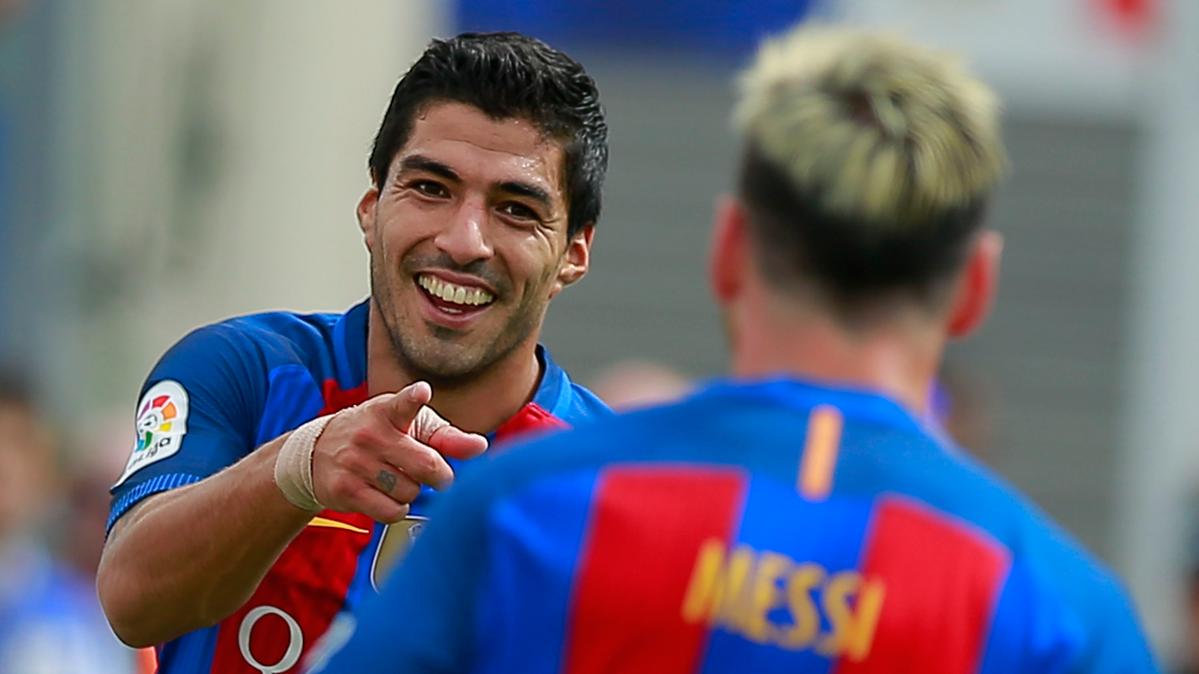 Luis Su�rez y Leo Messi, los mejores goleadores de 2016