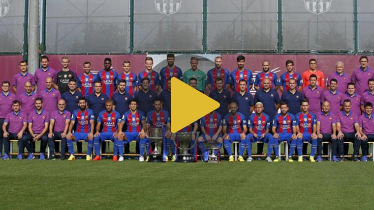 El FC Barcelona se hace la foto oficial de la temporada 2016-17