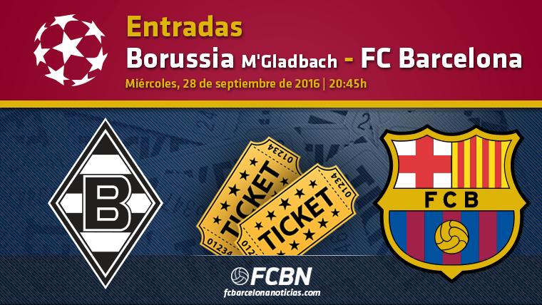 Entradas FC Barcelona vs Borussia M�Gladbach - Champions League