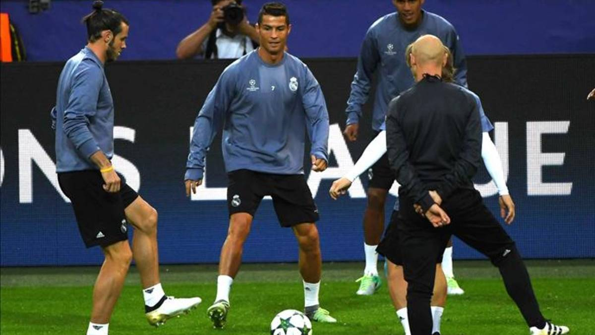Duras entradas, balonazo y broncas: Cristiano, en el entreno