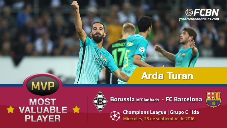 """Arda Turan, el """"MVP"""" del Bar�a contra el Borussia M'Gladbach"""