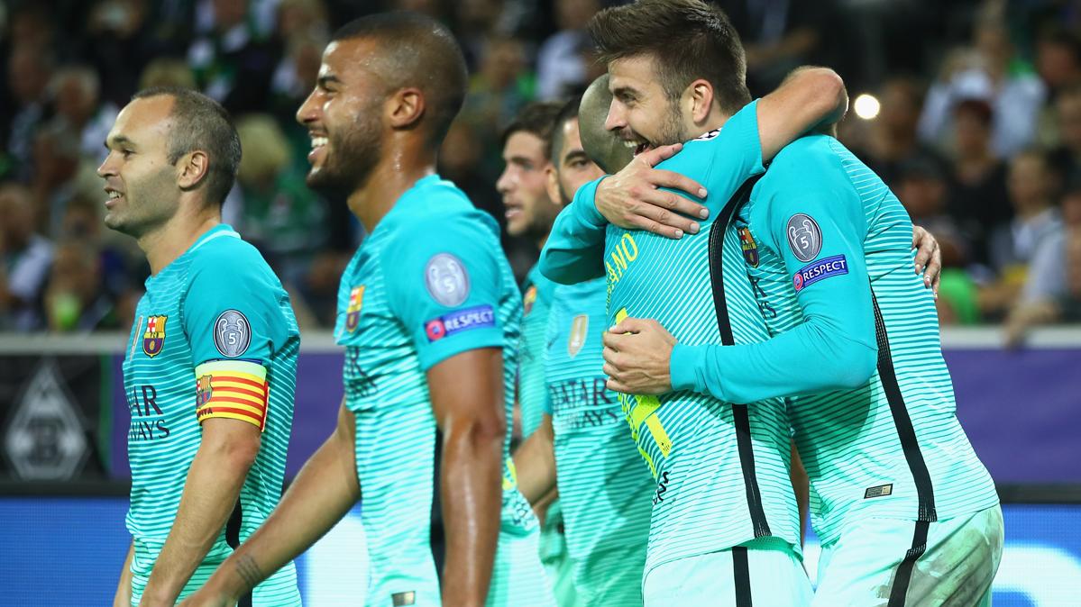 El verde de la equipación dio esperanza al Barça en Champions