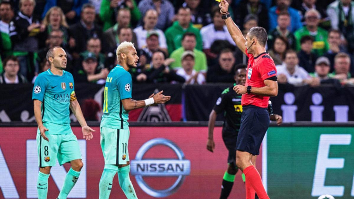 �Vio una amarilla Neymar Jr por insultar a Skomina?