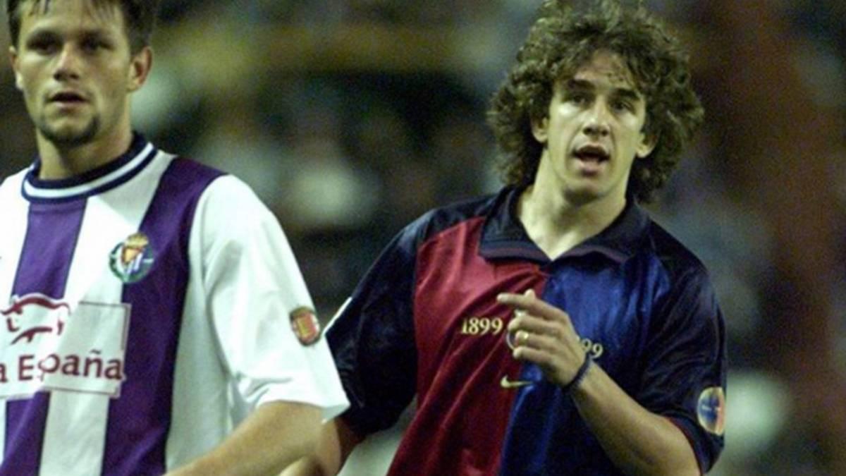 Se cumplen 17 a�os del debut de Puyol con el Bar�a