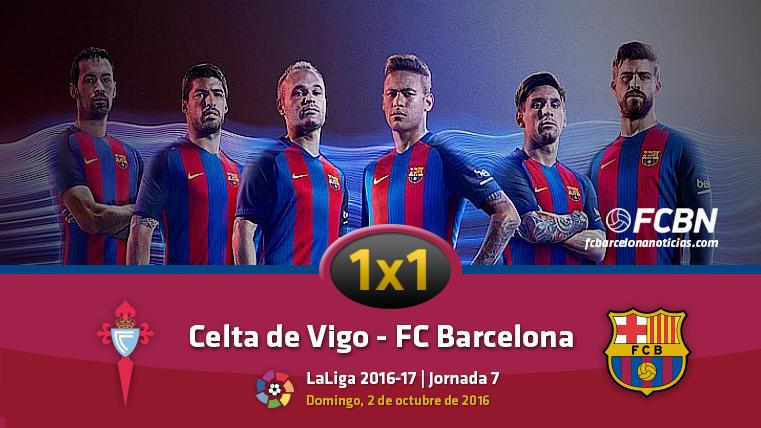 El 1x1 del FC Barcelona frente al Celta de Vigo