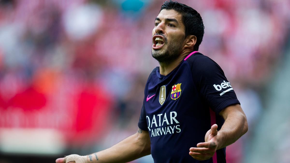 ALERTA: Luis Suárez, apercibido de sanción en Liga 2016-17