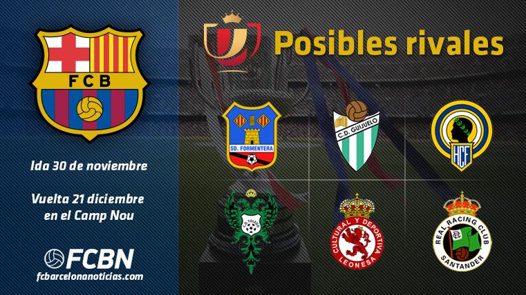 Estos son los seis posibles rivales del Bar�a en Copa