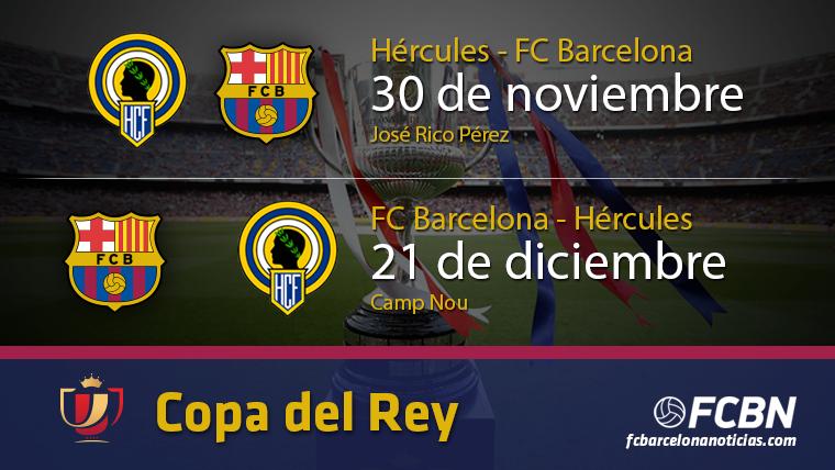 Entradas para el FC Barcelona vs Hércules de la Copa del Rey