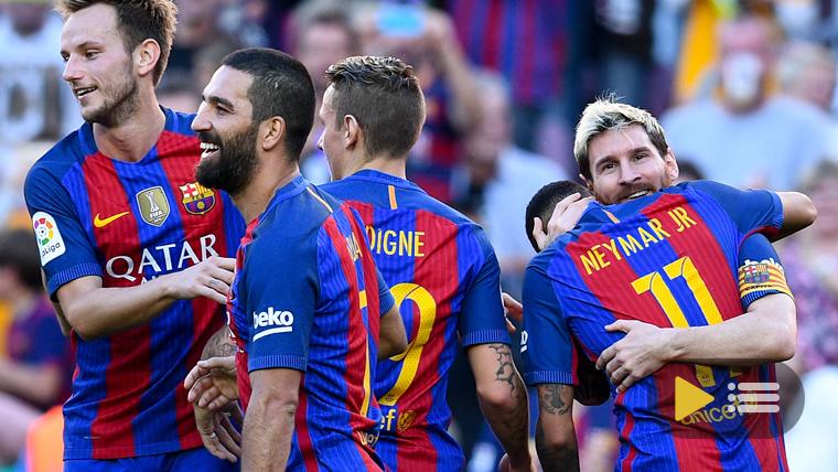 V�deo resumen: FC Barcelona 4 Deportivo de la Coru�a 0 (Liga J8)