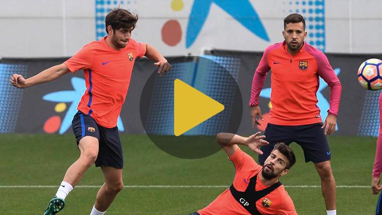 El Bar�a se entrena con Sergi Roberto y Jordi Alba en la sesi�n