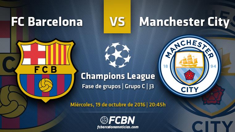 FC Barcelona-Manchester City: Duelo de gigantes en el Camp Nou