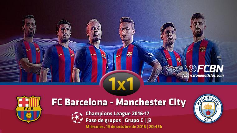 El 1x1 del FC Barcelona frente al Manchester City