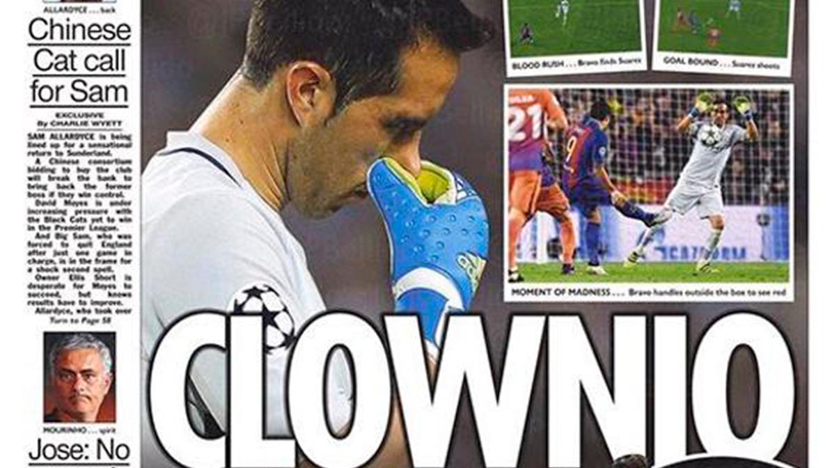 """Clownio"", la portada m�s extrema contra Claudio Bravo"