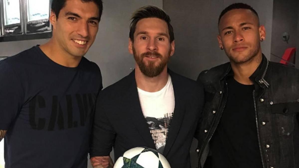 """La """"MSN"""" celebr� a lo grande el """"hat-trick"""" de Messi"""
